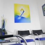 Wartezimmer der Zahnarztpraxis Dr. Treuheit Roßtal